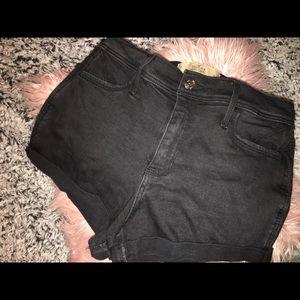 Black Hollister shorts.